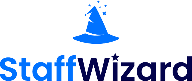 StaffWizard logo and text